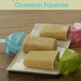 Apple Peanut Butter and Cinnamon Popsicles