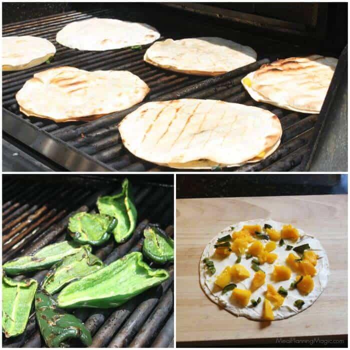 Easy Mango Poblano Quesadillas | Recipe at MealPlanningMagic.com