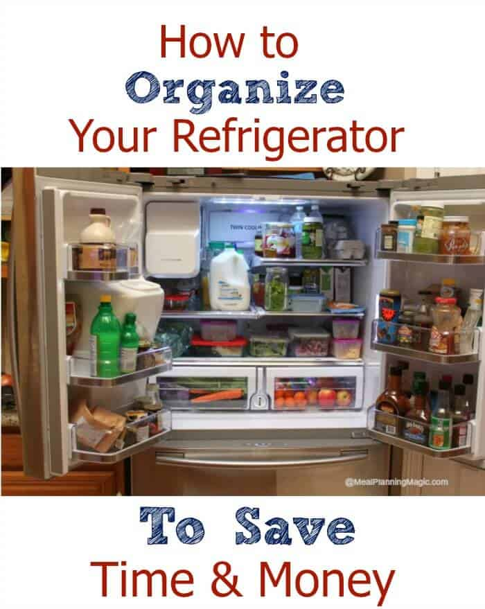How to Organize Your Refrigerator to Save You Time & Money | Find the tips at MealPlanningMagic.com