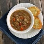 Slowcooker Italian Beef Vegetable Barley Soup | MealPlanningMagic.com #SundaySupper