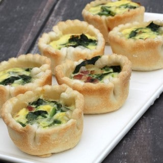 Make-ahead Spinach, Bacon and Swiss Cheese Mini Quiches #ad