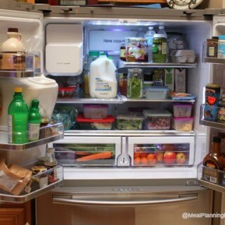 How to Organize Your Refrigerator - Six Tips to Help! | Find them at MealPlanningMagic.com