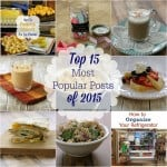 Top 15 Most Popular Posts for 2015 on MealPlanningMagic.com