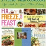 Five Freezer Meal Cookbooks You Need In Your Kitchen Library | Find details at MealPlanningMagic.com