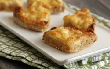 image of Cheesy Crabmeat Canapes on a plate