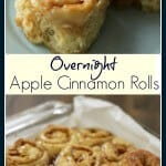 collage image of Overnight Apple Cinnamon Rolls