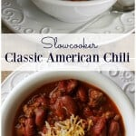 image of Slowcooker Classic American Chili pinterest collage
