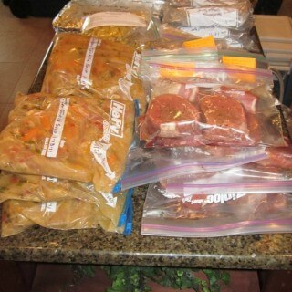 With a Freezer Meals Exchange Group you make up your meals for the frezer, meet with friends to swap and leave with a variety of meals to fill your freezer! | Find out how at MealPlanningMagic.com