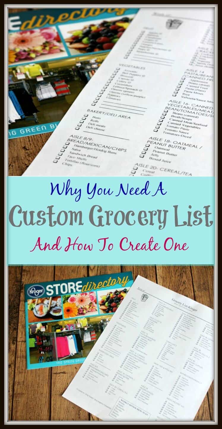 Save time, money, your sanity and more with a custom grocery list. Why You Need A Custom Grocery List and How To Create One (I share how!) | Find the tips at MealPlanningMagic.com
