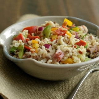 Italian Vegetable Wild Rice Salad