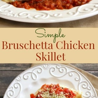 Simple Bruschetta Chicken - classic Italian flavors with a twist! Easy enough you can have it to the table in under 30 minutes! Find the recipe at mealplanningmagic.com