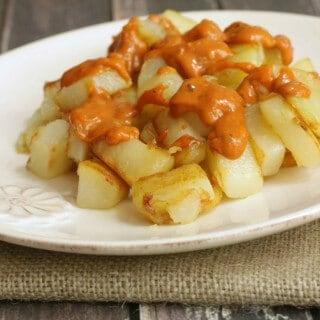 Easy Patatas Bravas Recipe #TasteOfSpain