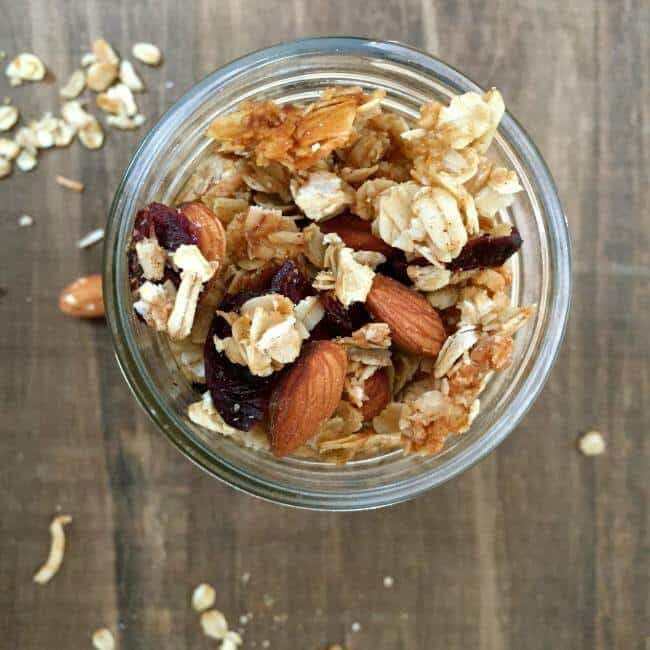 Road Trip Snacks-coconut cranberry chia seed granola