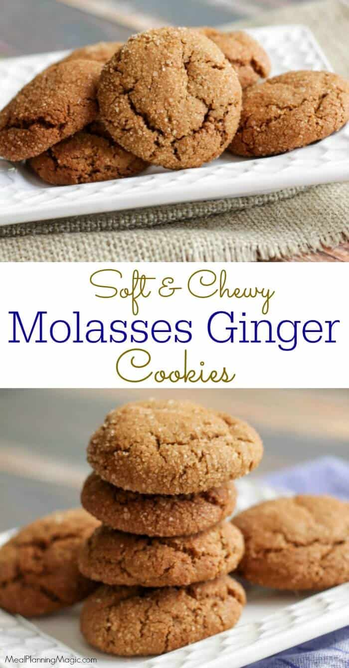 Ginger Molasses cookies-collage-3