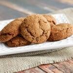 Ginger Molasses cookies-side-burlap-resized