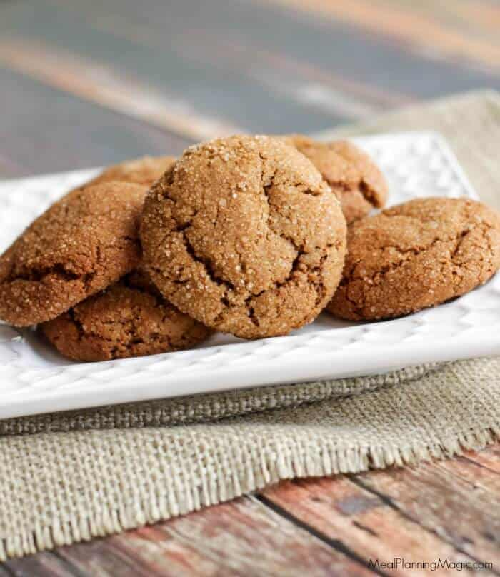 Ginger Molasses cookies-side-burlap-resized