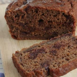 Healthier Decadent Double Chocolate Banana Bread
