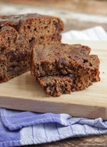 You'll love this Healthier Decadent Double Chocolate Banana Bread. It's so moist and delicious and has been made healthier from it's original recipe.