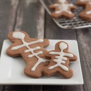 Halloween Skeleton Mexican Chocolate Sugar Cookies