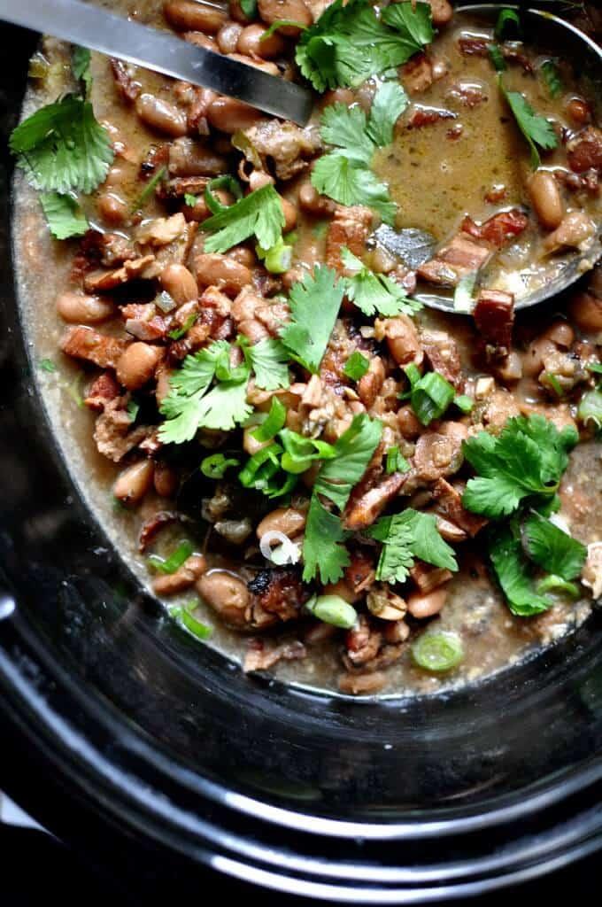 Slowcooker Borracho Beans