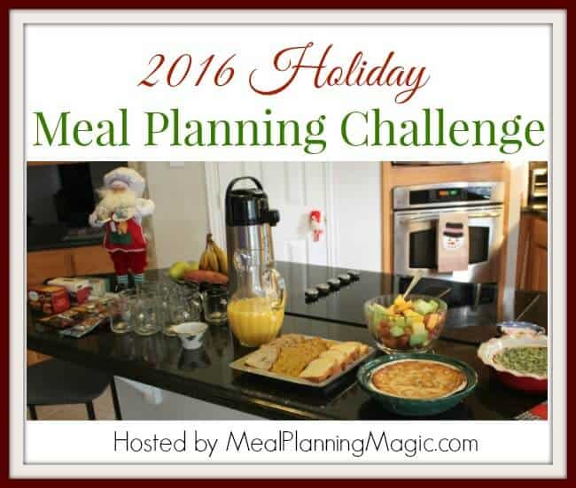 Holiday Meal Planning Challenge hosted by Meal Planning Magic.com
