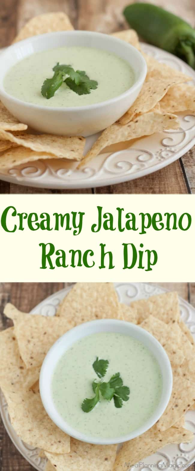creamy jalapeno ranch dip collage