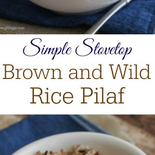 Simple Stovetop Brown and Wild Rice Pilaf