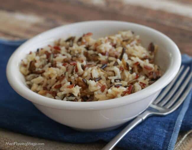 With only four ingredients, this Simple Stovetop Brown and Wild Rice Pilaf is a perfect addition to any meal and full of flavor too!