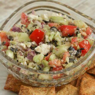 Easy Fresh Mediterranean Salsa Dip