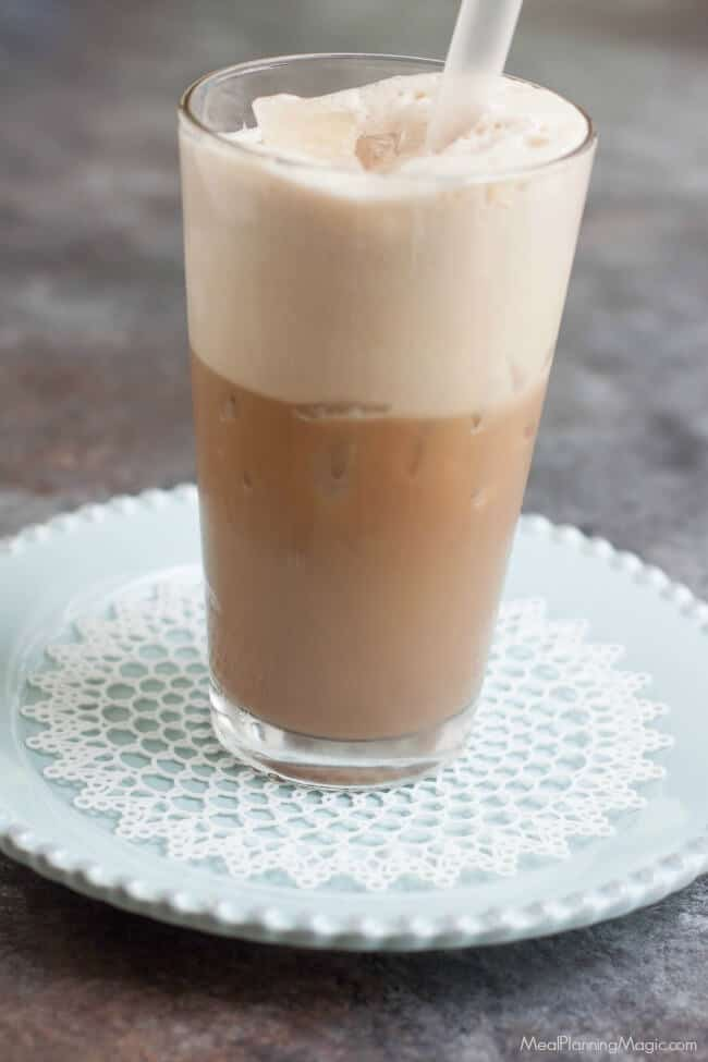 Cool off with a Homemade Iced Chai Latte and it's blend of subtly sweet and deliciously