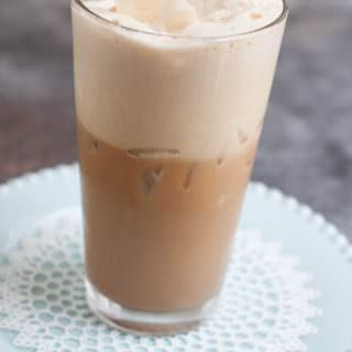 Cool off with a Homemade Iced Chai Latte and it's blend of subtly sweet and deliciously spices including cinnamon, ginger and cloves. My recipe is easy to make and can be made ahead!