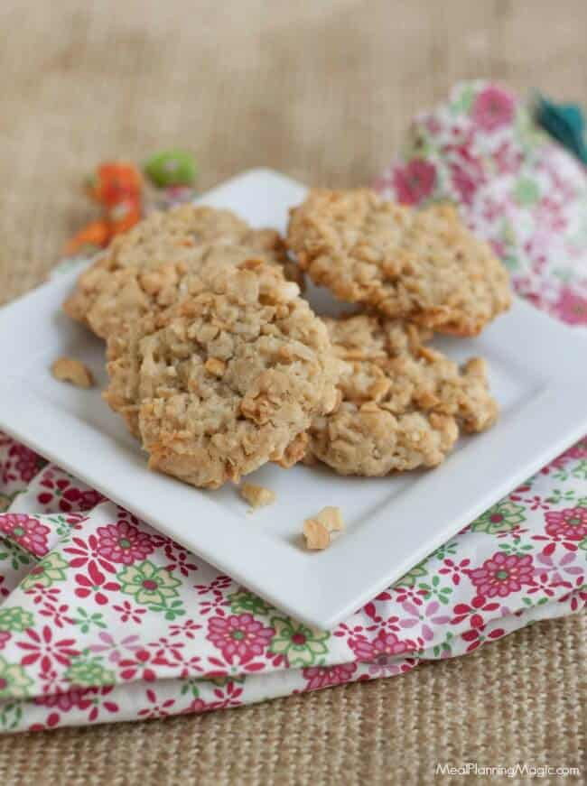 These Cracker Jack Cookies have a hint of caramel with a slight crunch from the peanuts and a secret ingredient. Make a double batch for the freezer so you'll always have some on hand!