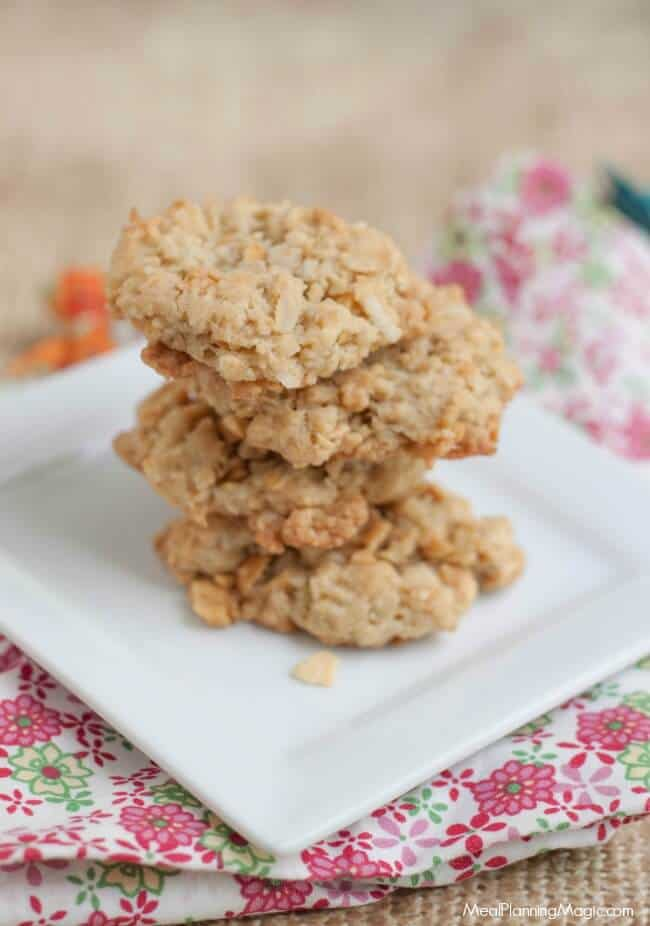 These Cracker Jack Cookies have a hint of caramel with a slight crunch from the peanuts and a secret ingredient. Make a double batch for the freezer so you'll always have some to enjoy!