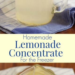 Making your own Homemade Lemonade Concentrate for the Freezer is super easy and lets you enjoy fresh lemonade year round! Get the recipe at MealPlanningMagic. com