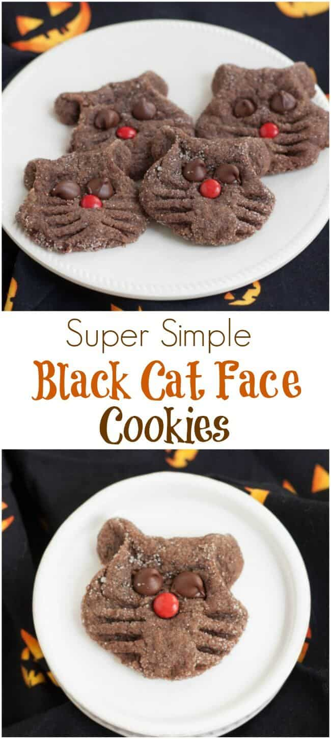 super simple chocolate black cat cookies - meal planning magic
