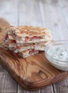 Simple Mediterranean Quesadillas are a delicious twist on traditional quesadillas and a great go-to option for an easy lunch or dinner. You can even prep ahead the filling to make them even easier come meal time! Get the recipe at MealPlanningMagic. com