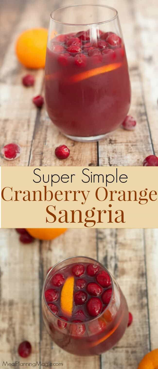 This Simple Cranberry Orange Sangria is just that—so simple! And delicious too. With only a few ingredients, it is easy to make ahead and serve any time of the year.