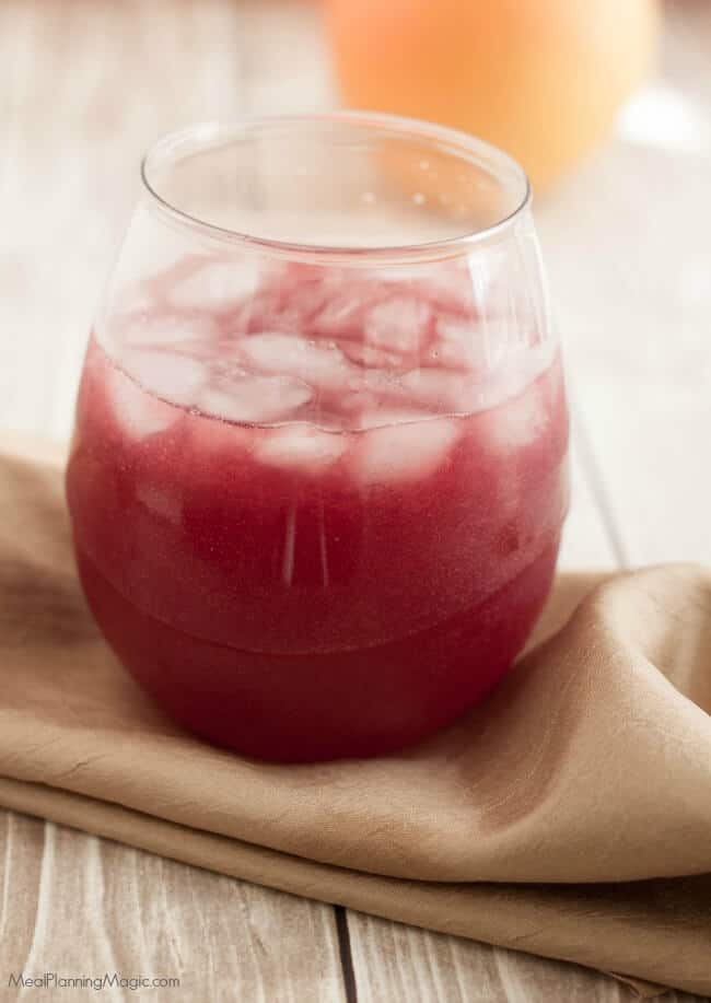 Sparkling Holiday Citrus Pomegranate Punch is a perfect non-alcoholic punch for all your special occasions. With only four ingredients it's easy to make ahead too. Easy and delicious!