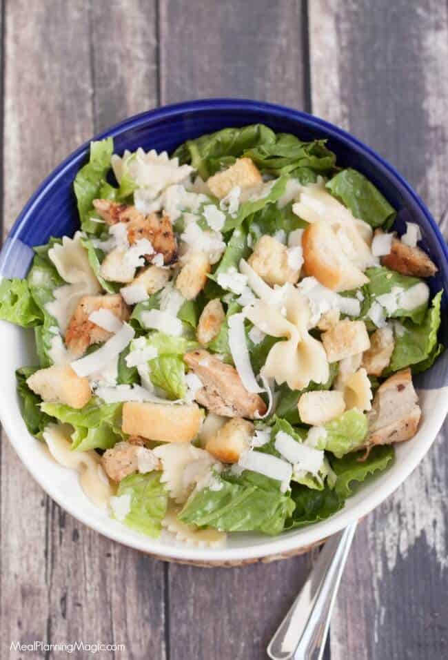 image of Caesar Chicken and pasta salad