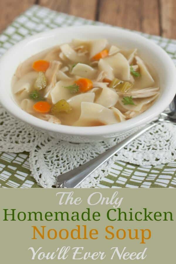 This Super Easy Homemade Chicken Noodle Soup is the only recipe you'll ever need! Make it on the stovetop, pressure cooker or slowcooker!