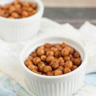 Simple Cinnamon Honey Roasted Garbanzo Beans are a delicious and nutritious snack idea perfect for anytime.