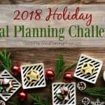 Image of 2018 Holiday Meal Planning Challenge Logo.
