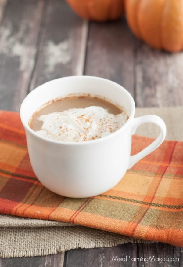 Picture of coffee cup with All Natural Pumpkin Spice Latte Creamer
