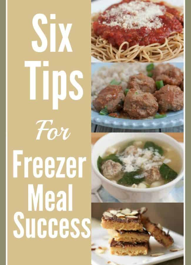 Filling your freezer with healthy homemade meals can save lots of time and money in the kitchen! Get started with these Six Tips for Freezer Meal Success!