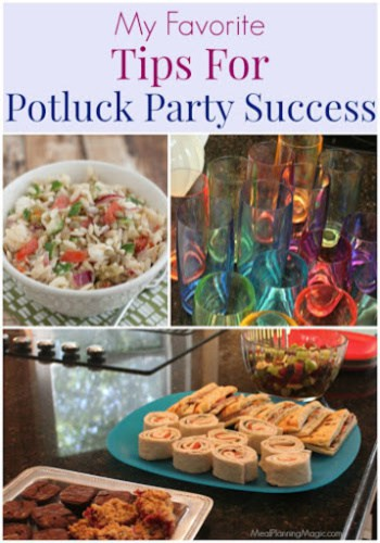 My Favorite Tips for Potluck Party Success plus several FREE online services to make planning your next potluck a lot easier!