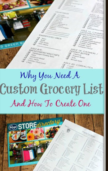 Save time, money, your sanity and more with a custom grocery list. Why You Need A Custom Grocery List and How To Create One (I share how!)