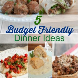 collage image of budget friendly dinner ideas