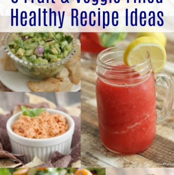 Collage image fo 6 Fruit and Veggies Filled Healthy Recipe Ideas.