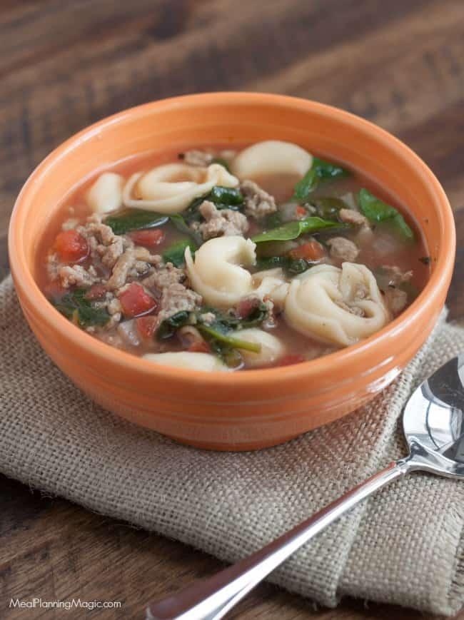 image of Rustic Italian Sausage Tortellini Soup
