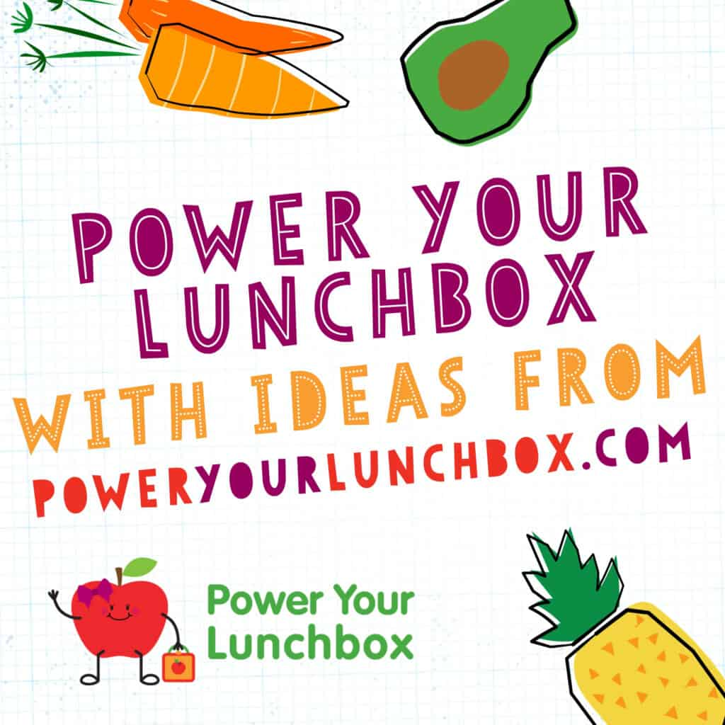 promotional image with text for Power Your Lunchbox campaign.